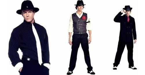 chapéu gangster - fedora social unissex - aba longa