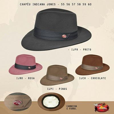 Chapeu Indiana Jones Social - Preço Imbativel - Sensacional - R  59 ... 73181830f95