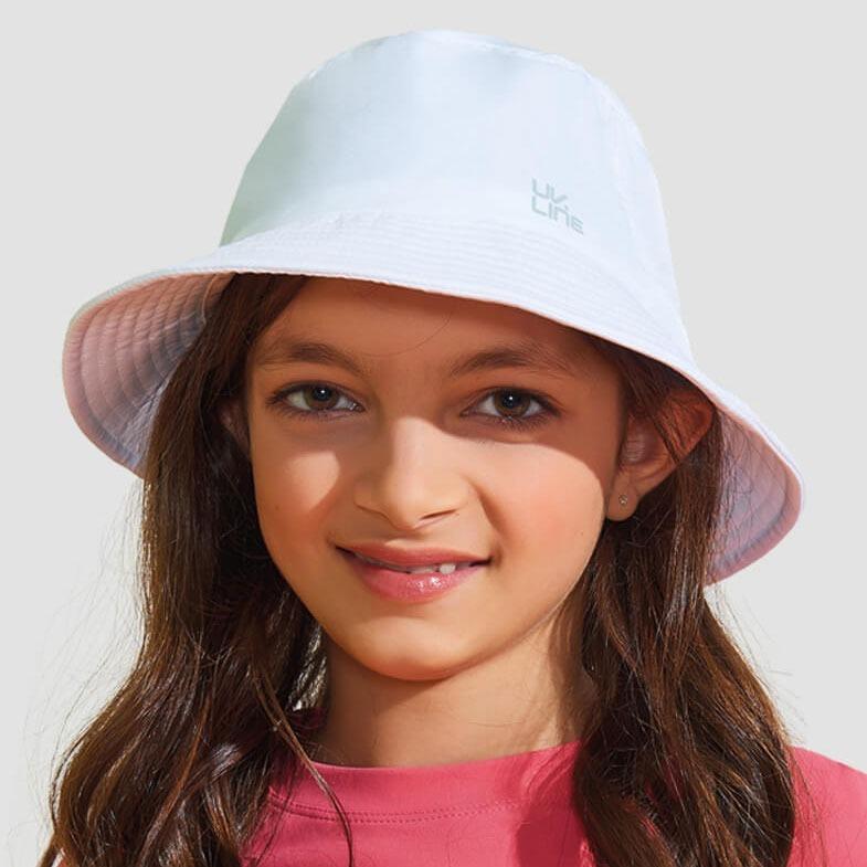 Chapéu Infantil Basic Kids Proteção Solar Uv Line Branco - R  120 845401464af