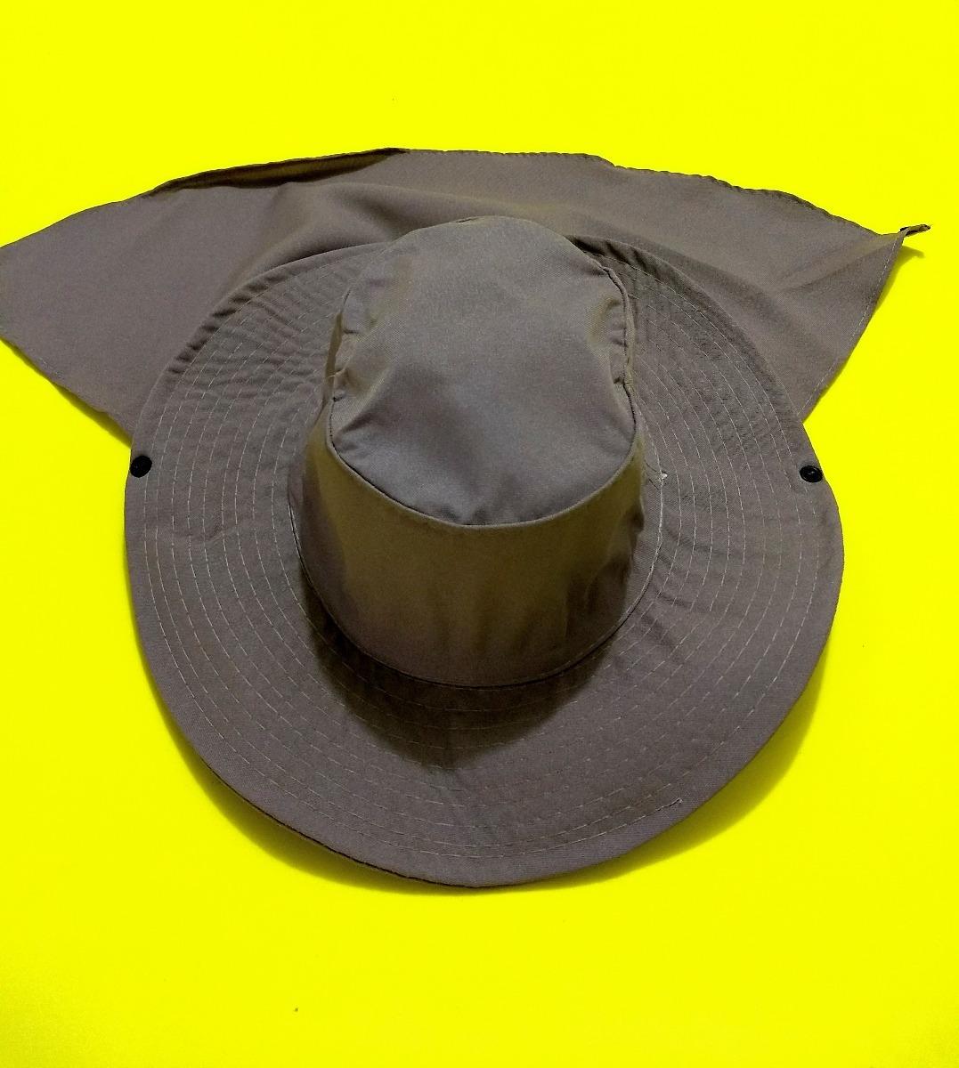 2e6f87437f32f chapéu liso pescador com protetor nuca australiano. Carregando zoom.