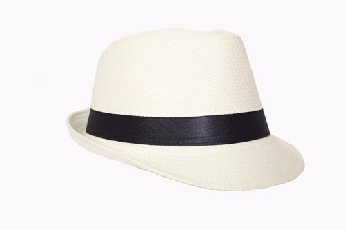 chapéu malandro panamá branco adulto festa fantasia