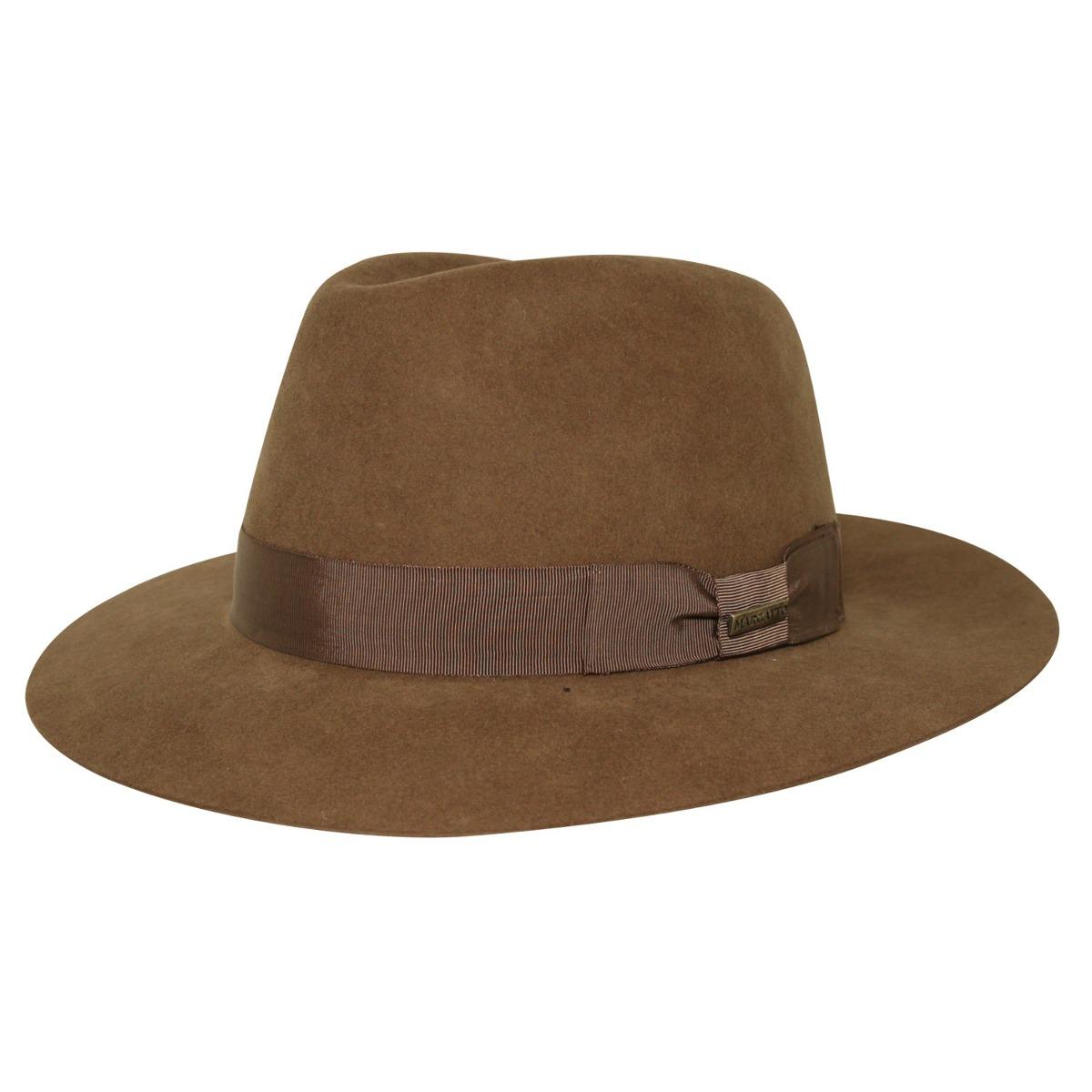760ebfb9d06ae chapéu marcatto pêlo de lebre kennedy marrom-tamanho 58. Carregando zoom.