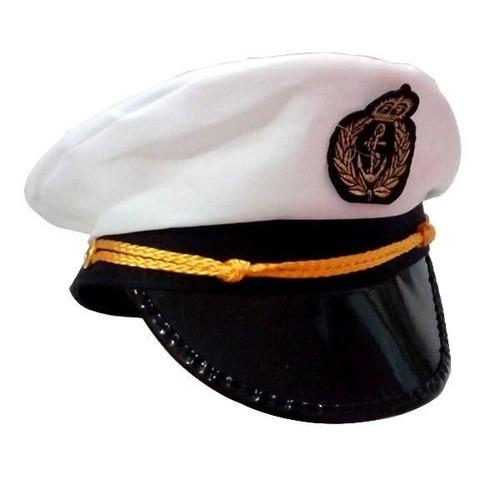 d8b9c3faa0a9b Chapéu Marinheiro Quepe Boina Capitão Fantasia Festa Cosplay - R  18 ...