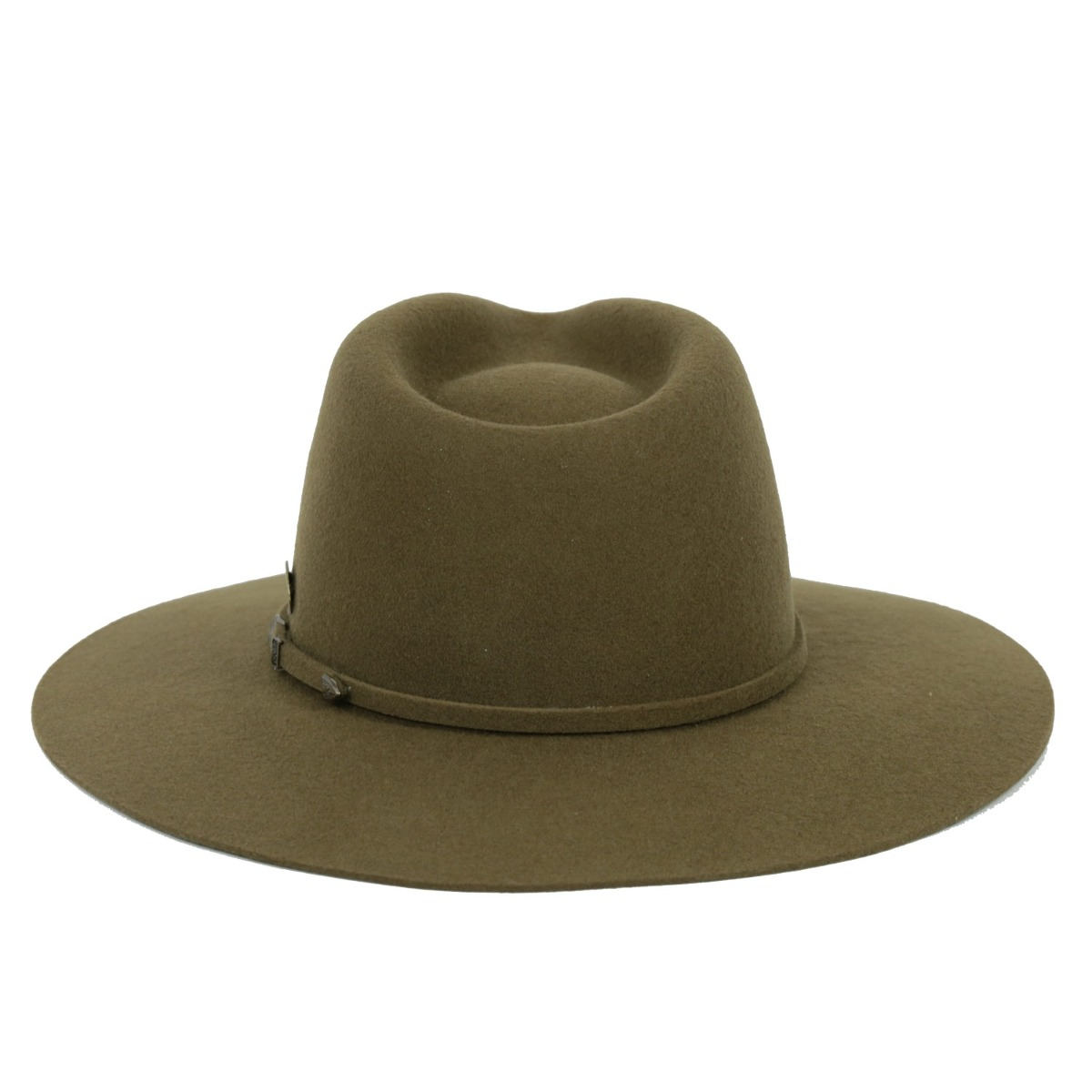 chapéu masculino aba 8cm feltro verde oliva. Carregando zoom. 83cd663fede