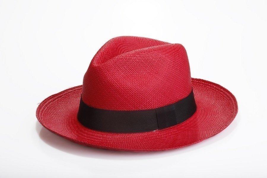 chapéu masculino aba grande estilo panamá vermelho praia. Carregando zoom. 87992d34dba