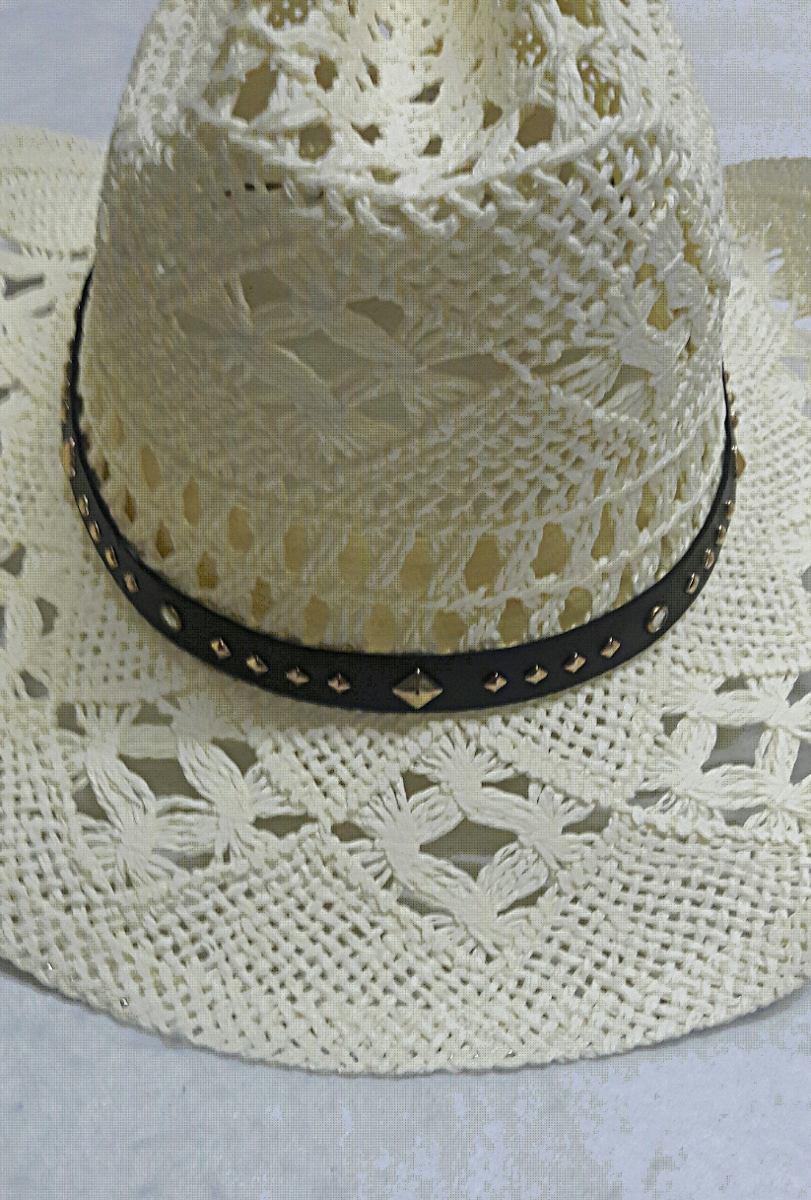 chapéu masculino branco tipo palha country cowboy pião. Carregando zoom. 841b1a454a4