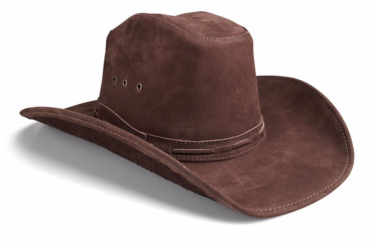 chapeu masculino couro boiadeiro country cowboy americano. Carregando zoom. 25733888513