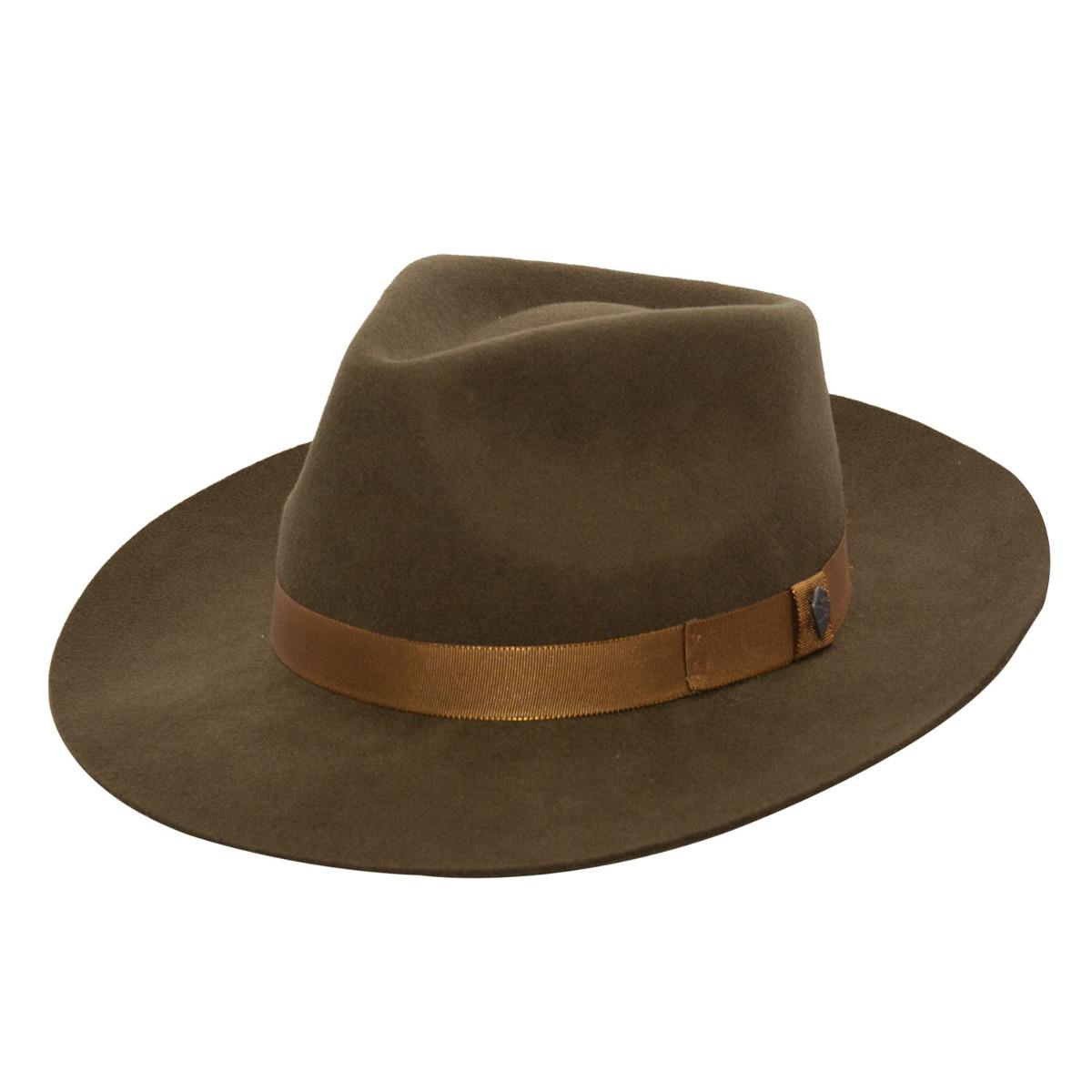 chapéu masculino feltro tabaco aba 8 cm vários tamanhos. Carregando zoom. 50727ed7aff