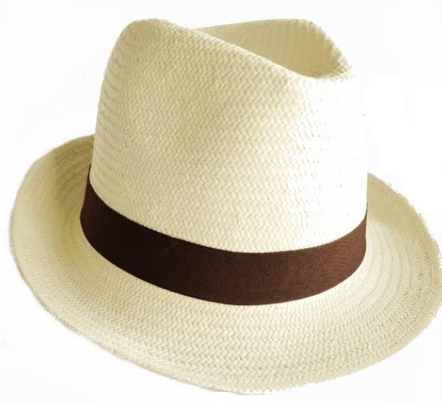 Chapéu Masculino Feminino Moda Panamá Aba Curta Faixa Marrom - R  49 ... 6726869a85c