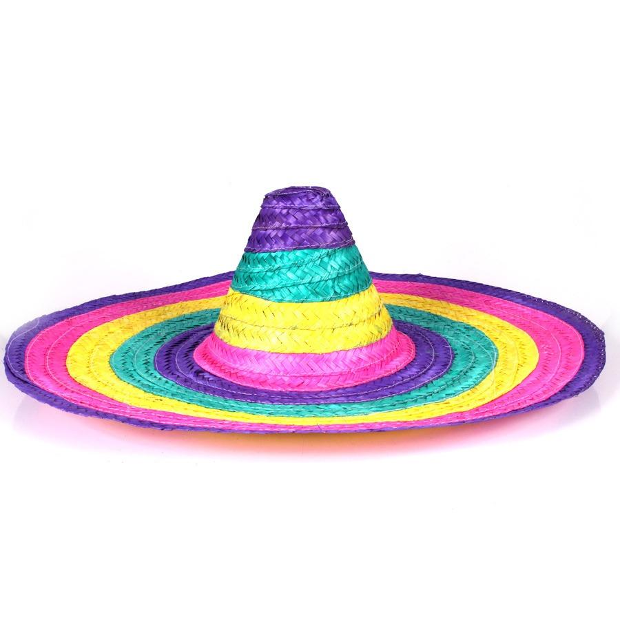 chapeu mexicano sombrero chapelão (palha). Carregando zoom. 33847a85ab4
