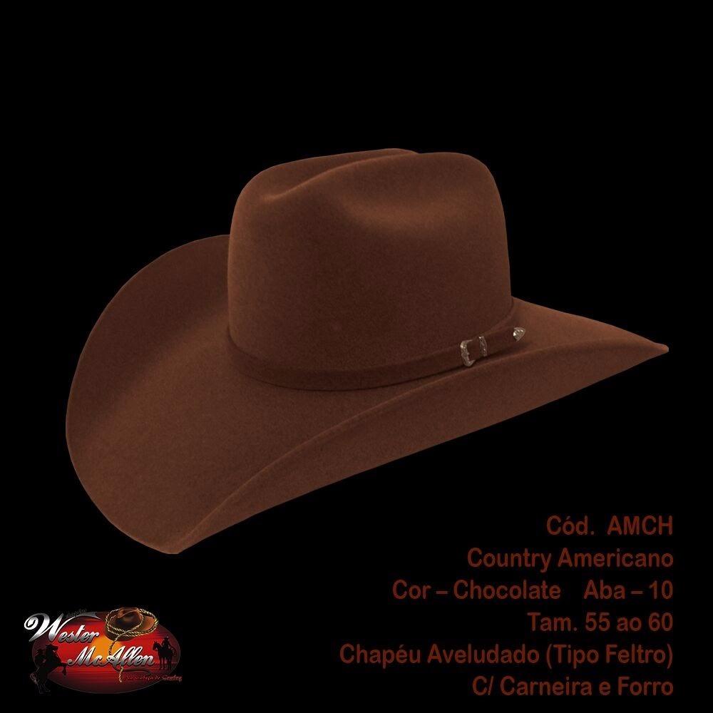 Chapeu Moda Country Americano Chocolate (rodeio) - R  63 f924a1eec98