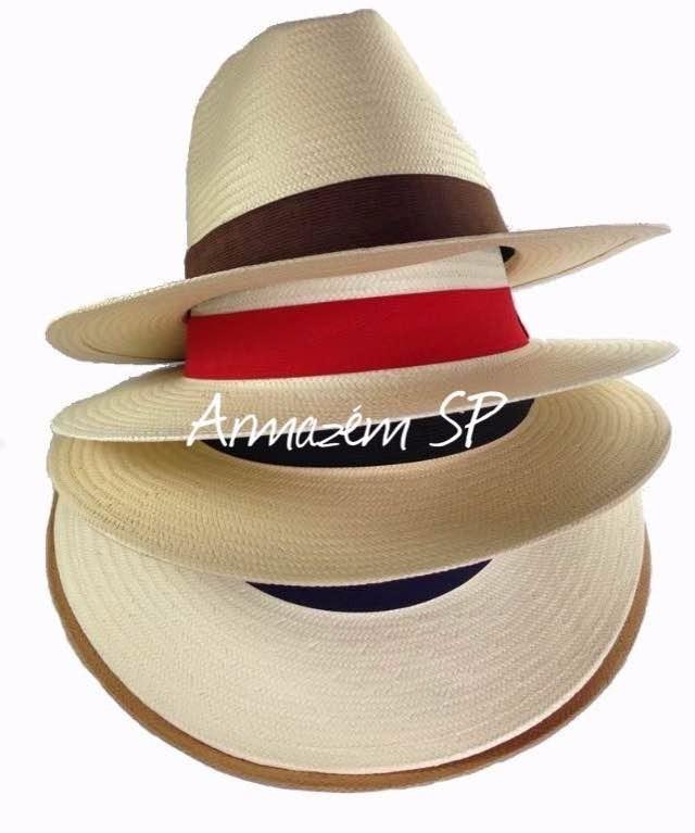 Chapéu Moda Panamá Aba Larga Casual Praia Masculino Feminino ... 64ee3dbcabd