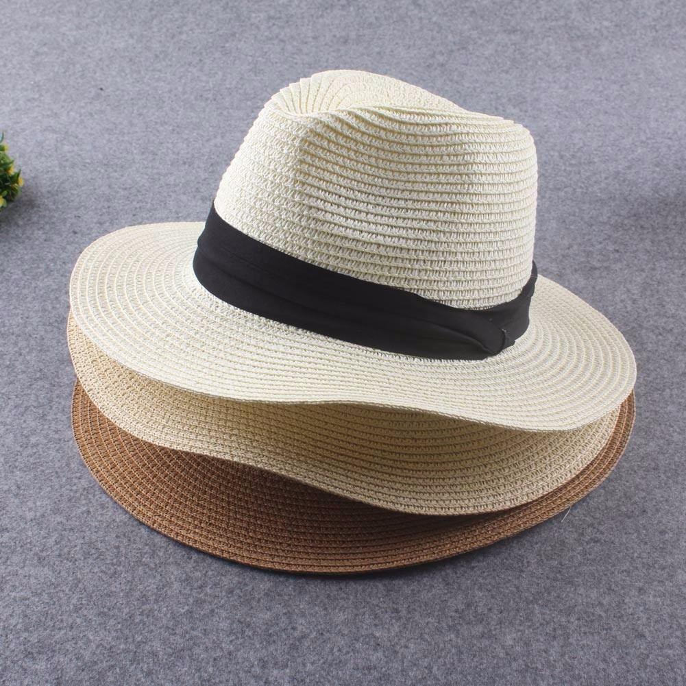 chapéu moda panamá aba larga casual praia masculino feminino. Carregando  zoom. 5246af2cba6