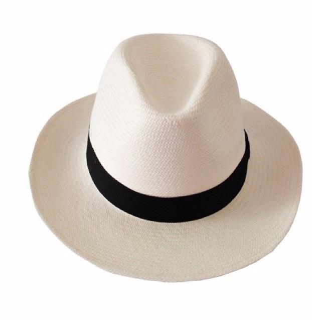 Chapéu Moda Panamá Borsalino Aba Longa Unissex Faixa Marrom - R  59 ... 58644c567d8
