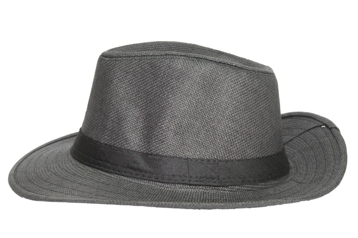 chapéu moda panamá palha casual praia cinza. Carregando zoom. 4bc573aa0da