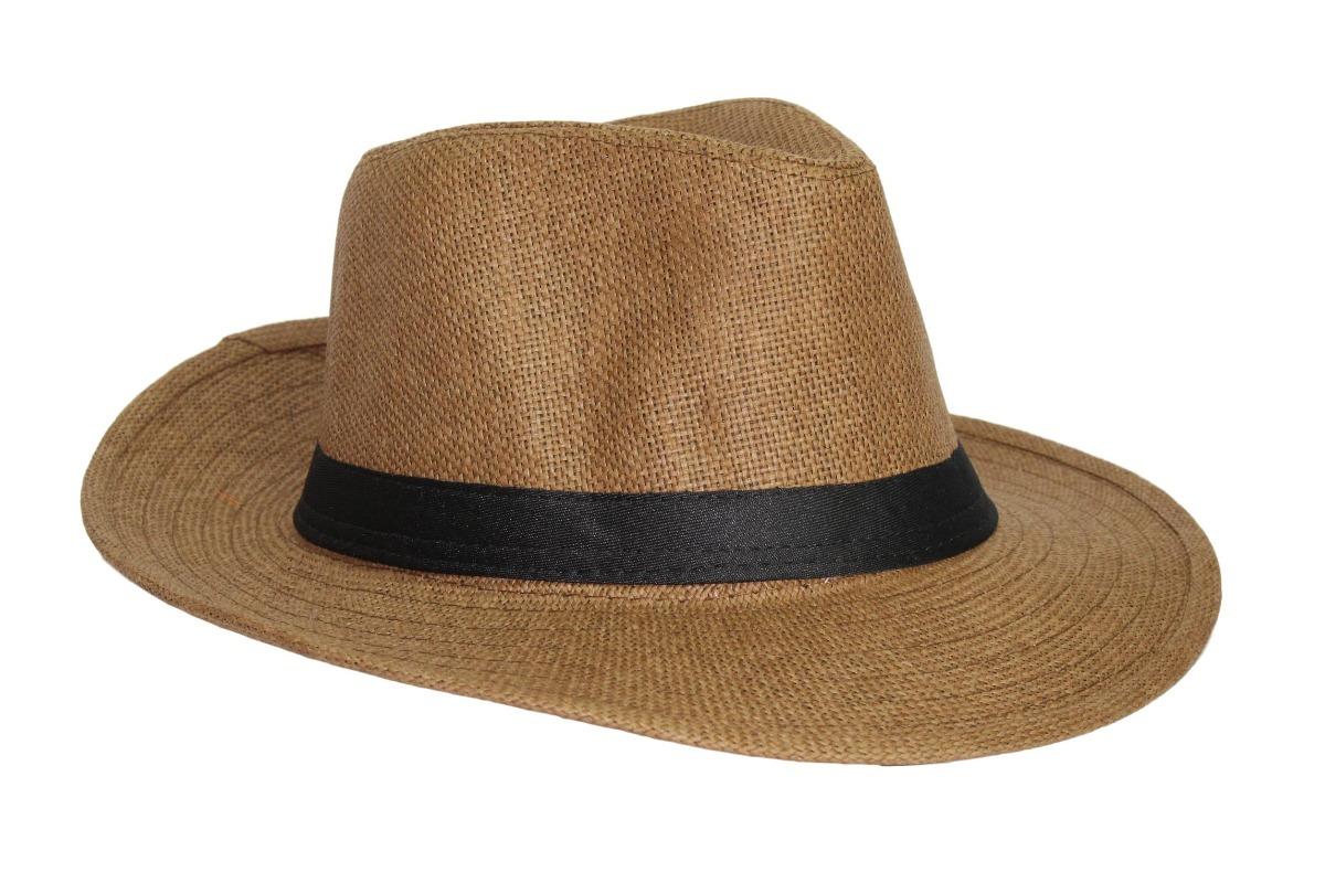 chapéu moda panamá palha casual praia marrom. Carregando zoom. ba2062c61e1