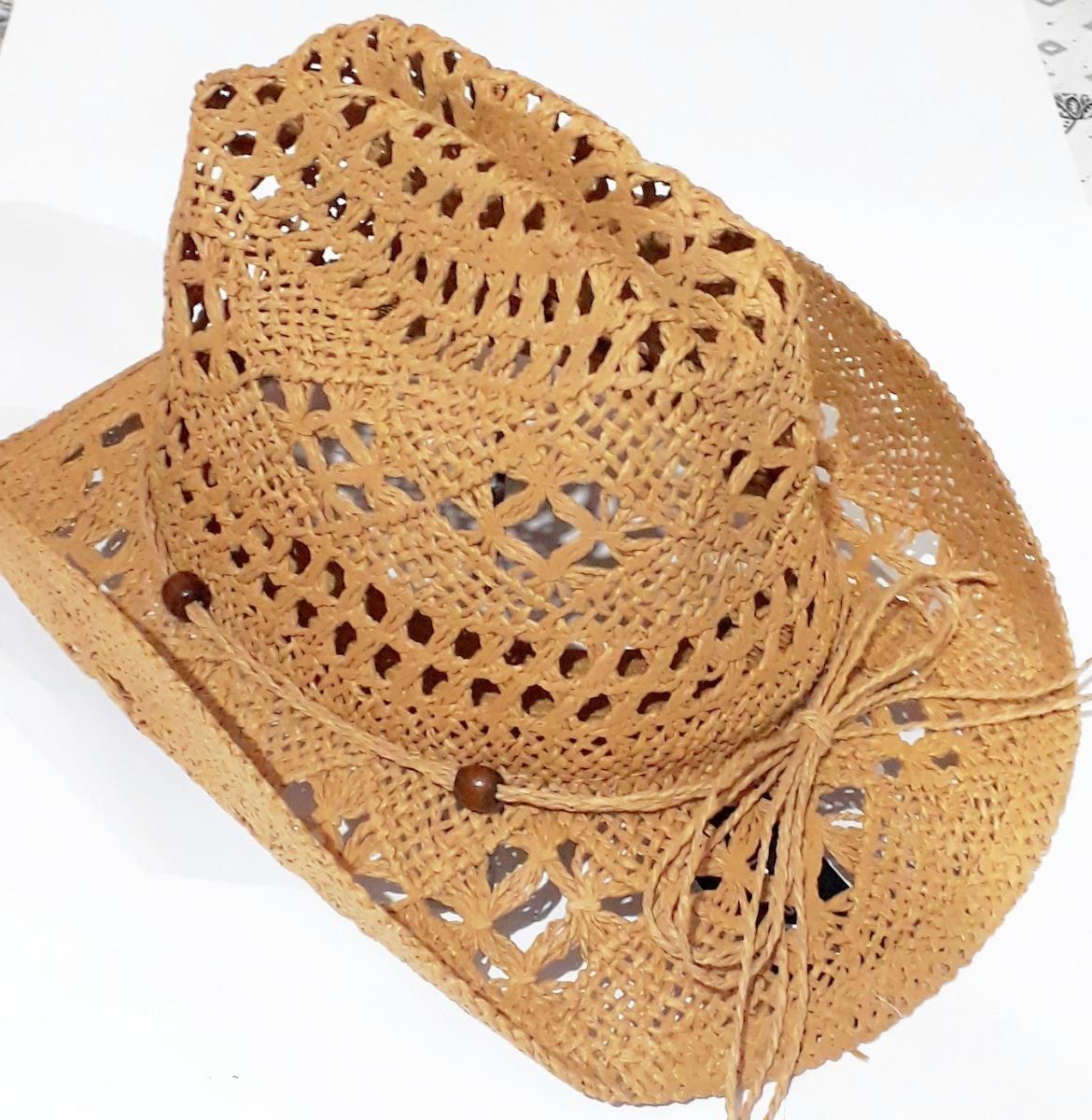 chapéu moda praia country cowboy tipo palha. Carregando zoom. 4d3e1c06efd