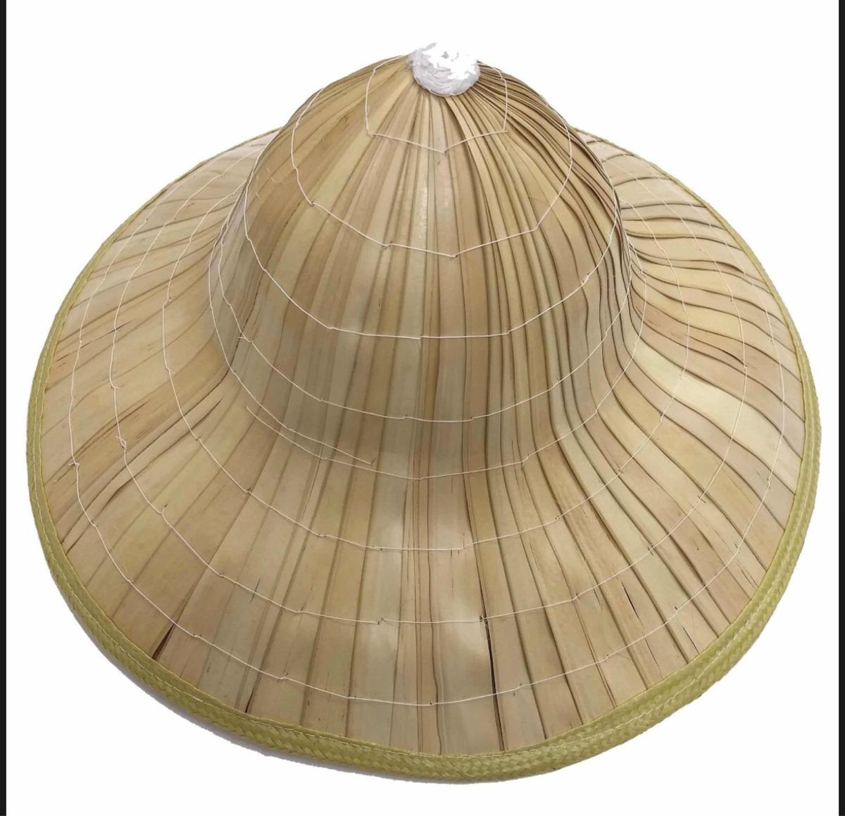 chapéu oriental palha de bambu - carnaval. Carregando zoom. 44e6990570c