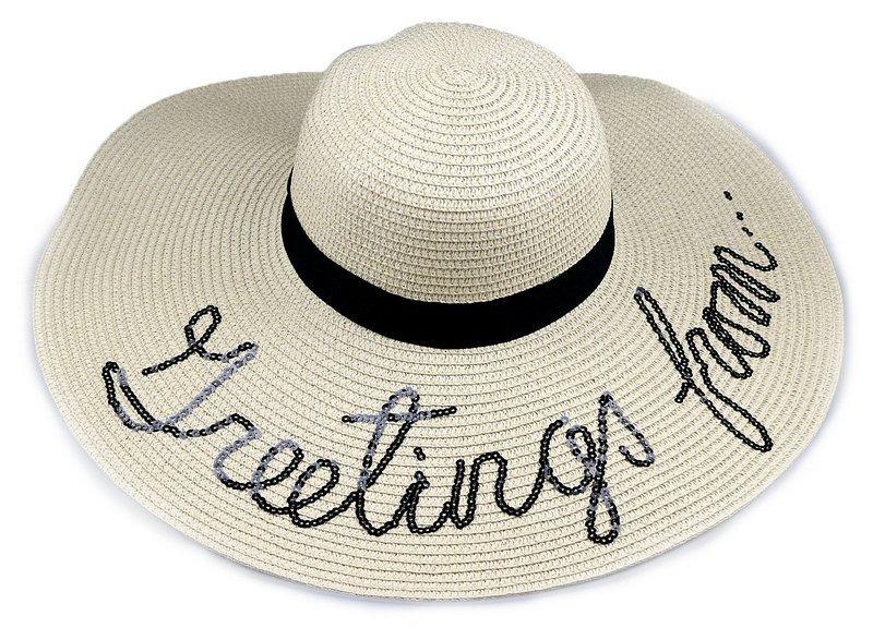 chapéu palha de praia feminino creme aba grande. Carregando zoom. df96fc3f827