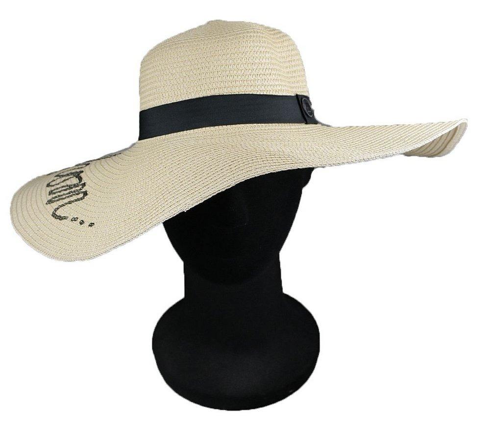 chapéu palha de praia feminino creme aba grande. Carregando zoom. be300fc3140