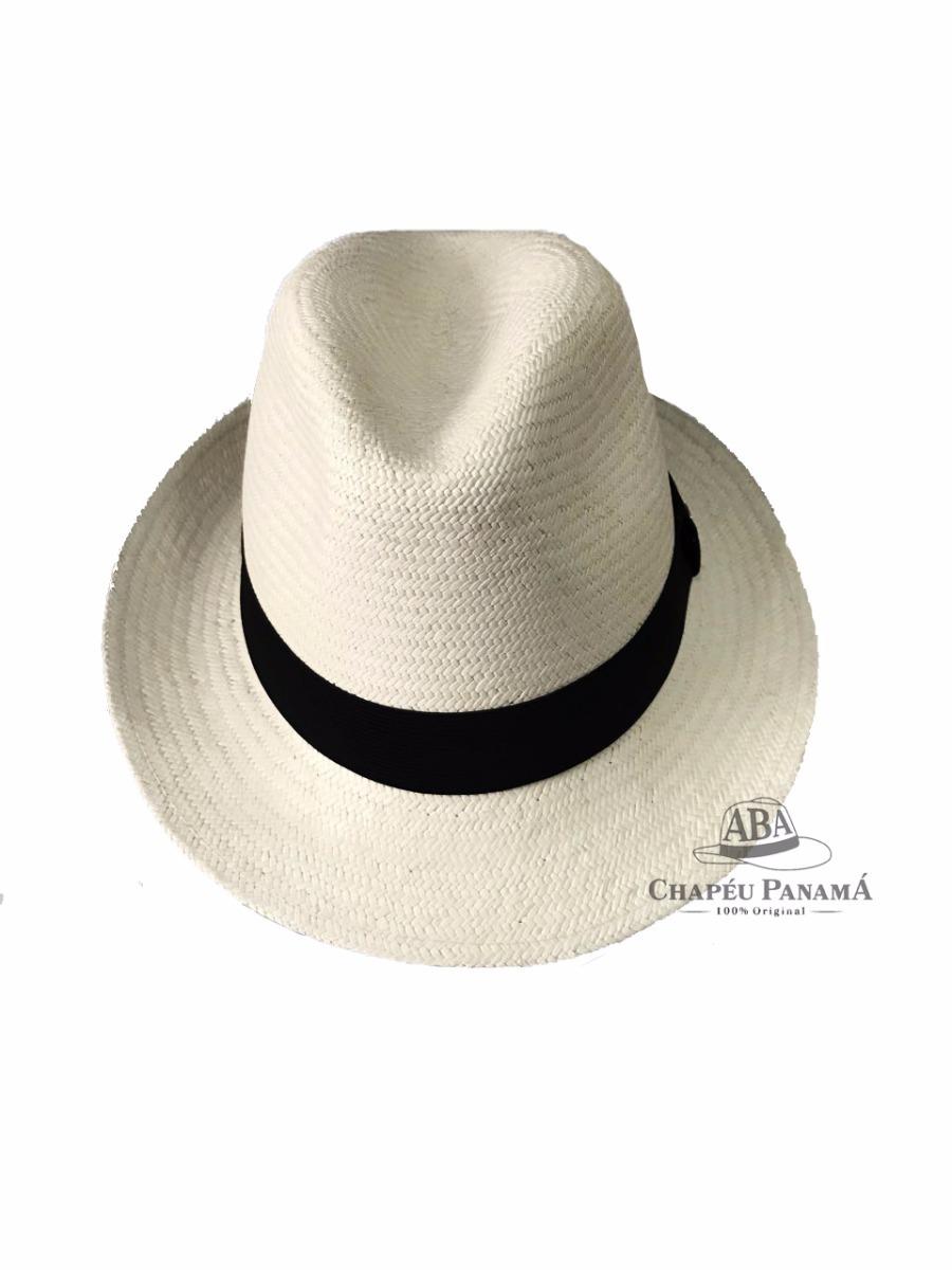 5e1a088a81f5f chapéu panamá aba curta fedora branco masculino original. Carregando zoom.