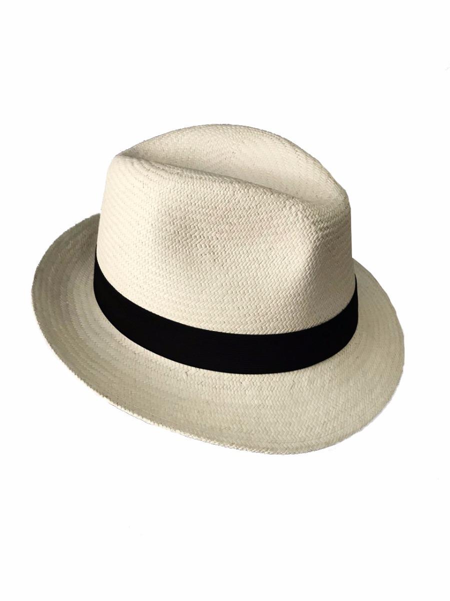 cdd02809a2 Chapéu Panamá Aba Curta Fedora Branco Masculino Original