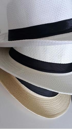 chapéu panamá aba larga unissex varias cores