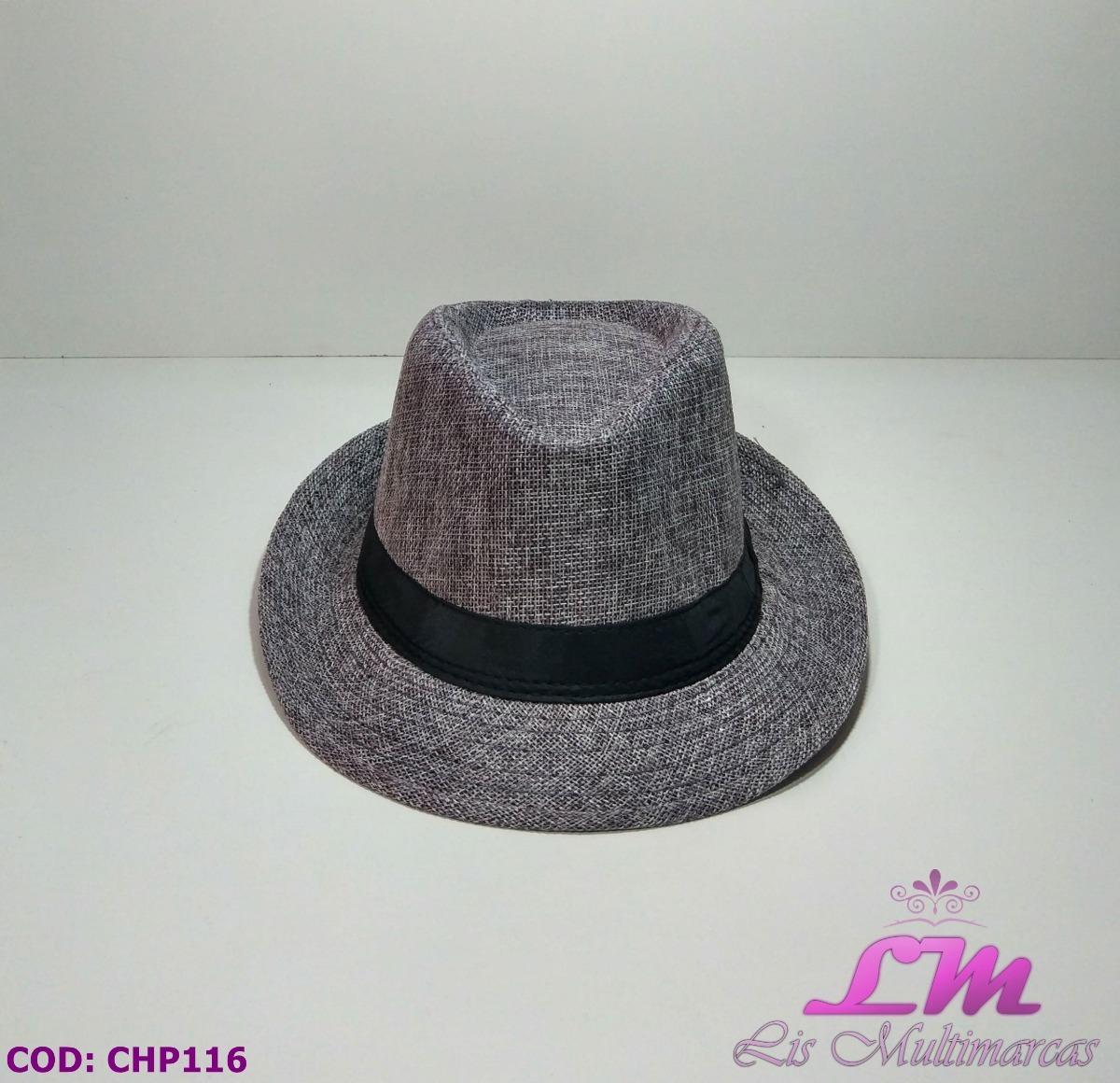 5424c850e4 chapéu panamá cinza com faixa preta - tamanho 52. Carregando zoom.