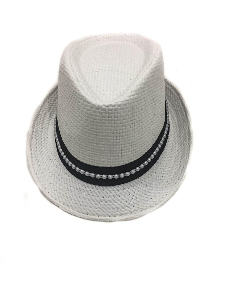 Chapéu Panamá De Palha Na Cor Branco Jk Acessórios - R  9 8b929b8caef