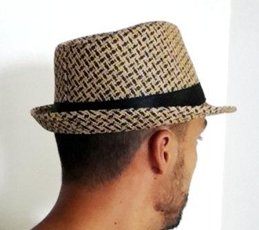 Chapéu Panamá Estilo Fedora Aba Curta Modelável Marrom Preto - R  15 ... 10f62e60c73