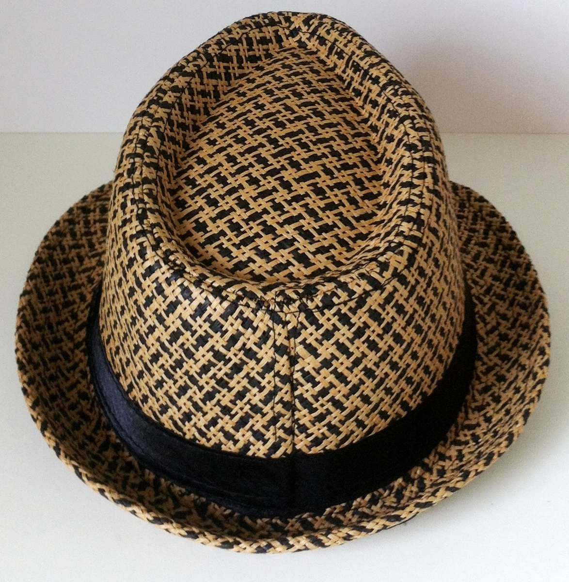 chapéu panamá estilo fedora aba curta modelável marrom preto. Carregando  zoom. 71dfd5ca749