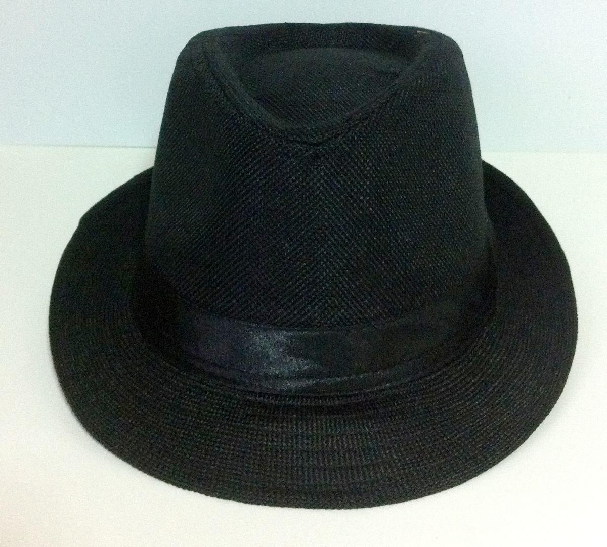 45f683c81f35a chapéu panamá estilo fedora aba curta modelável preto. Carregando zoom.
