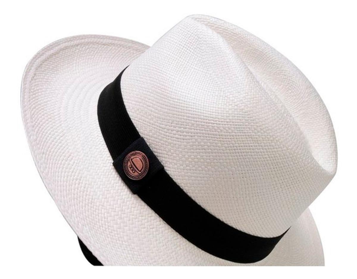 870cb83f61 Chapéu Panamá Legítimo Palha Toquilla Natural Feito A Mão