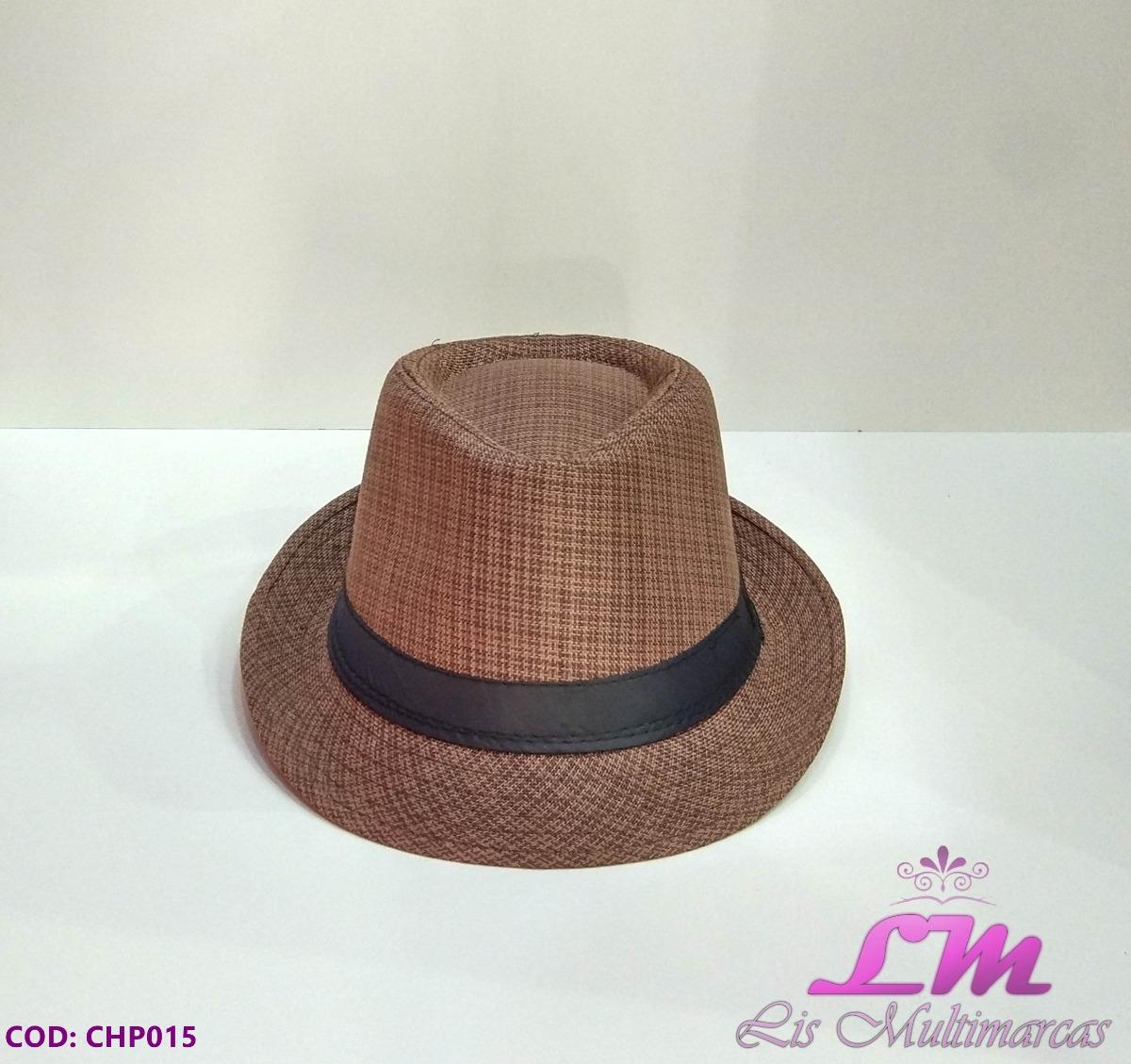 chapéu panamá marrom riscado - tamanho 58. Carregando zoom. e3cbac72f63