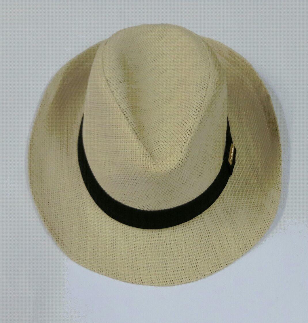 chapéu panamá masculino tipo palha c  faixa preta. Carregando zoom. 08f5d8c04db