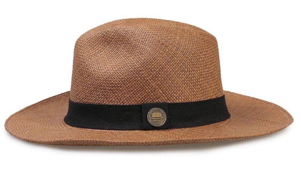 chapéu panamá original feminino palha aba grande 8cm. Carregando zoom. 5284299116f