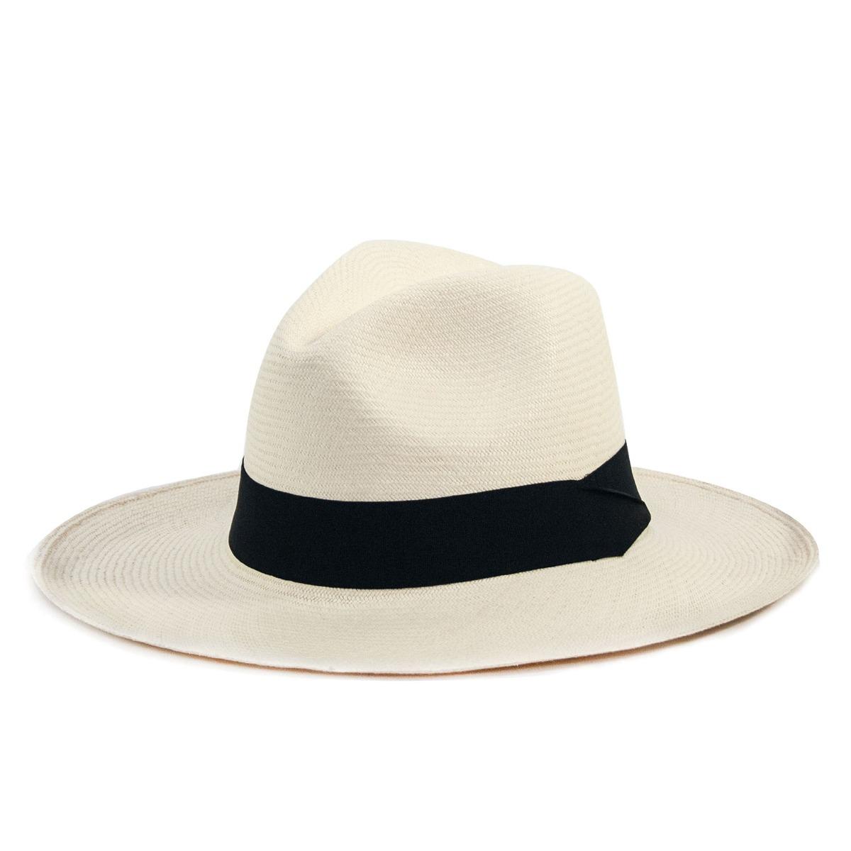 chapéu panamá original montecristi toquilla aba larga marfim. Carregando  zoom. b5c80a349e8