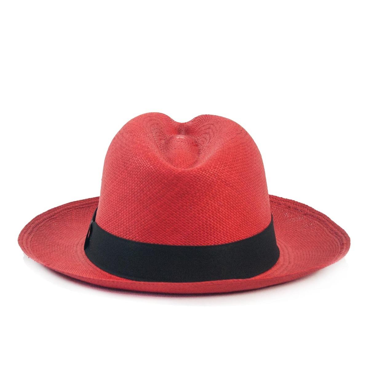 chapéu panamá original montecristi toquilla vermelho. Carregando zoom. deeb9392e9f