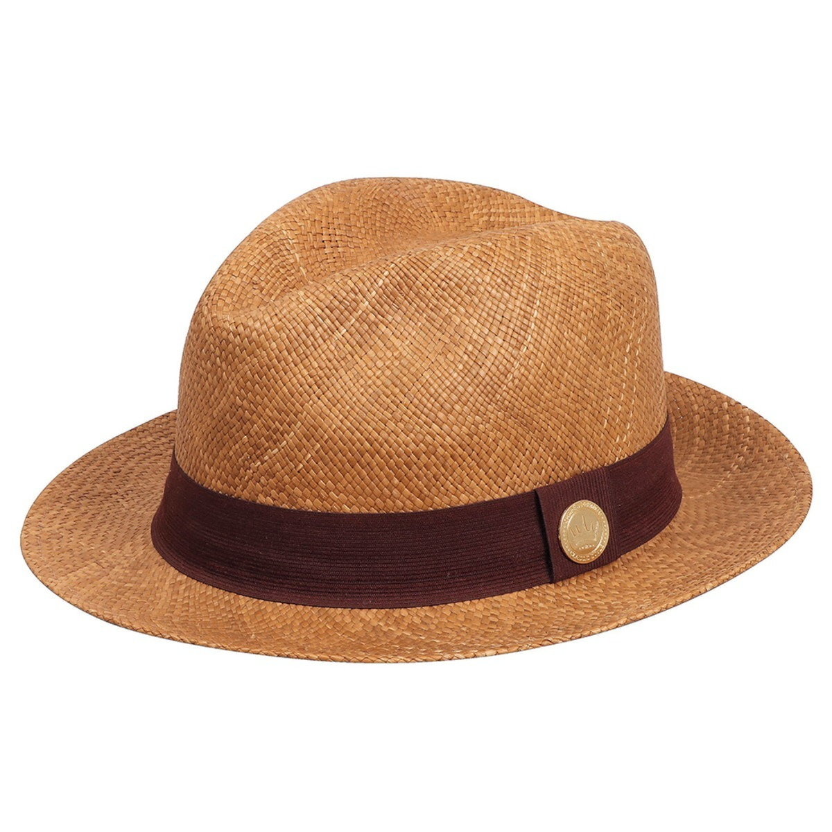 Chapéu Panamá Toquilla Tabaco Aba 5cm Com F  Marrom Oferta ! - R  345 4acad6df3e8