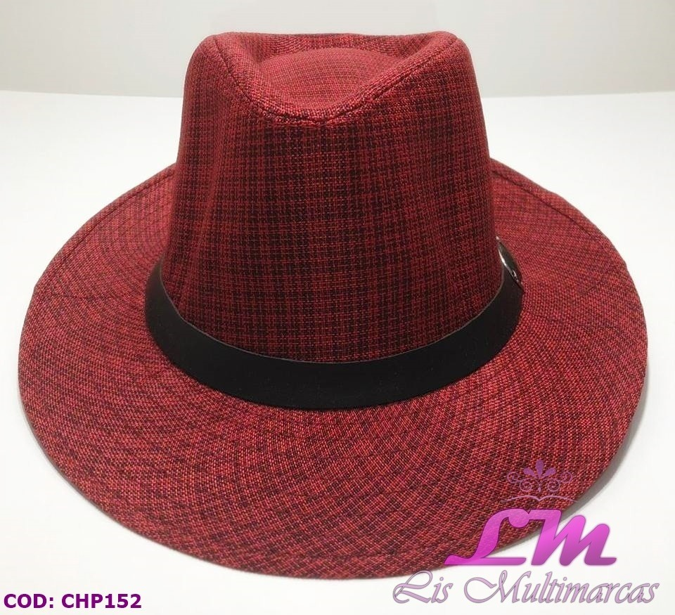 chapéu panamá vermelho listrado - tamanho 58 - aba grande. Carregando zoom. 653108a3989