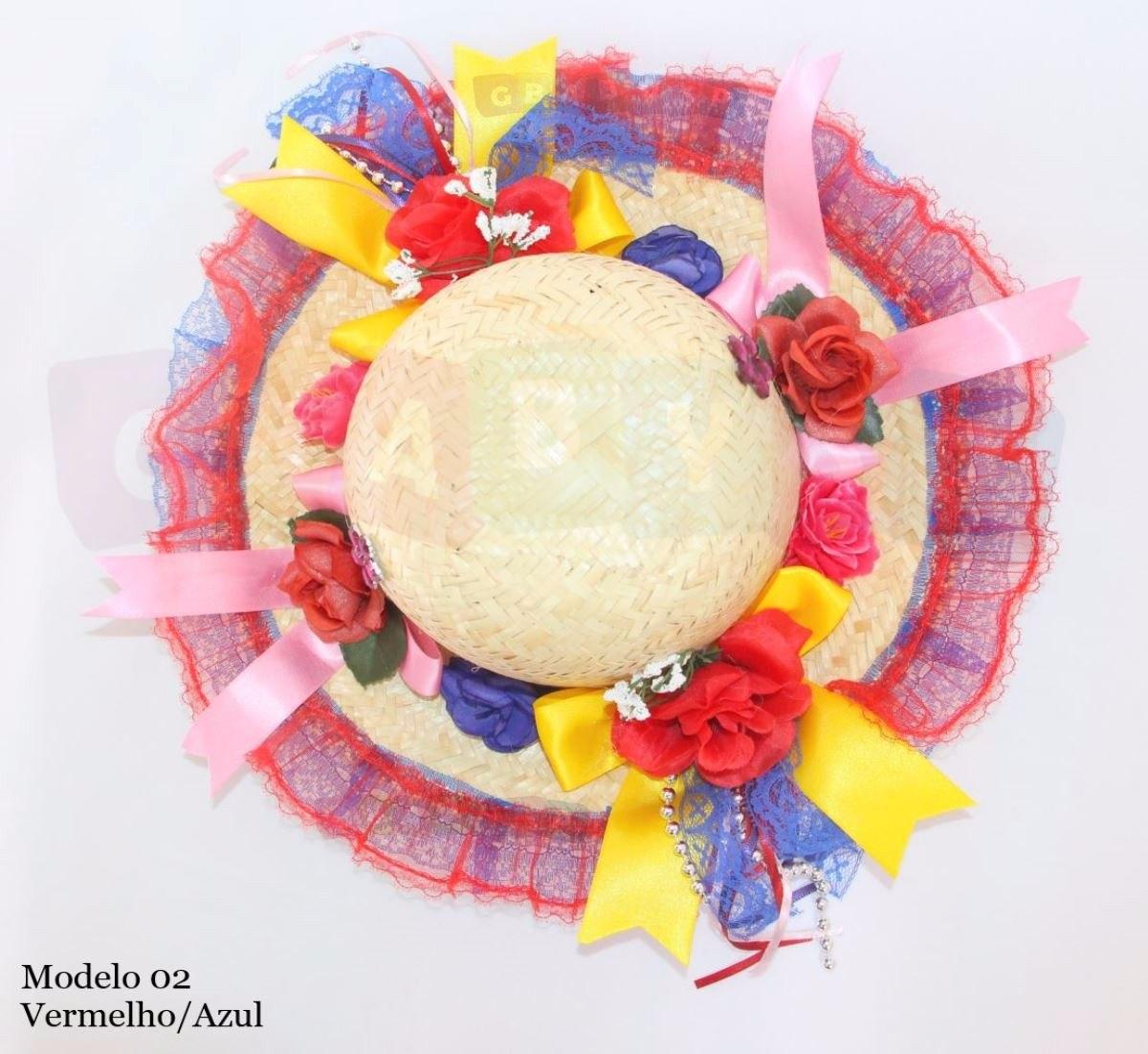 chapéu para festa junina luxo decorado infantil varias cores. Carregando  zoom. 3028705a588