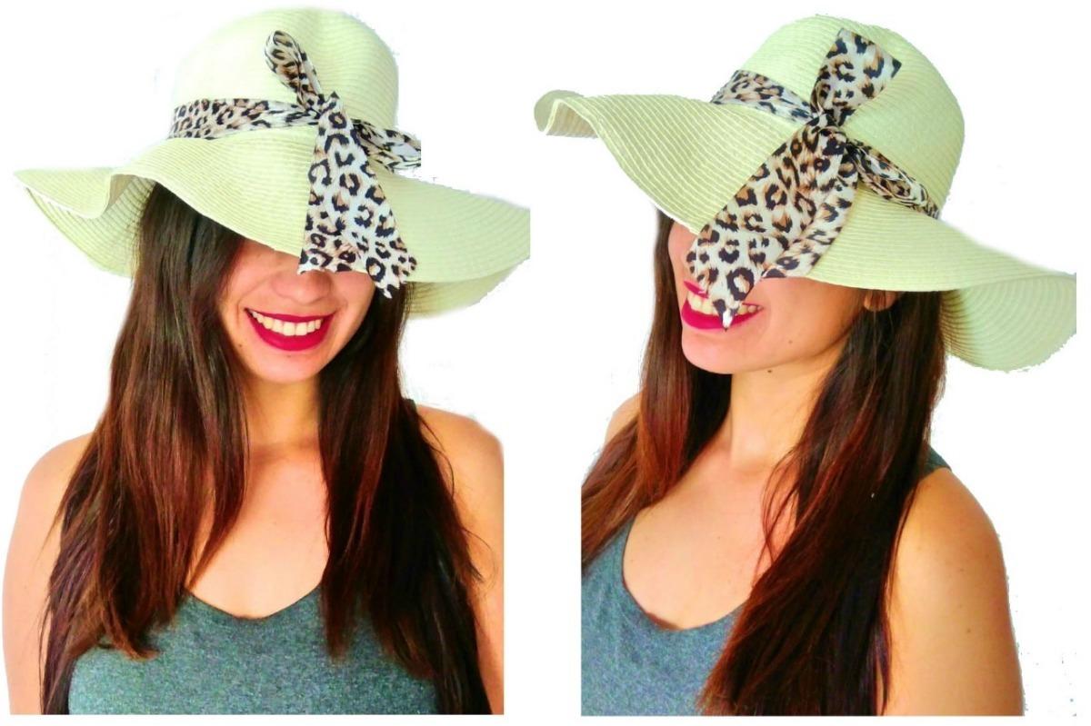 chapéu para mulher de praia palha grande estiloso lançamento. Carregando  zoom. 52a2f8d419f