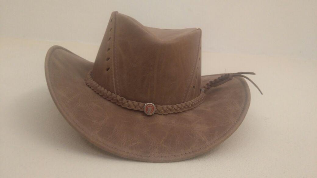 a03d02d7c6d77 chapéu peão country adulto infantil couro melhor qualidade. Carregando zoom.