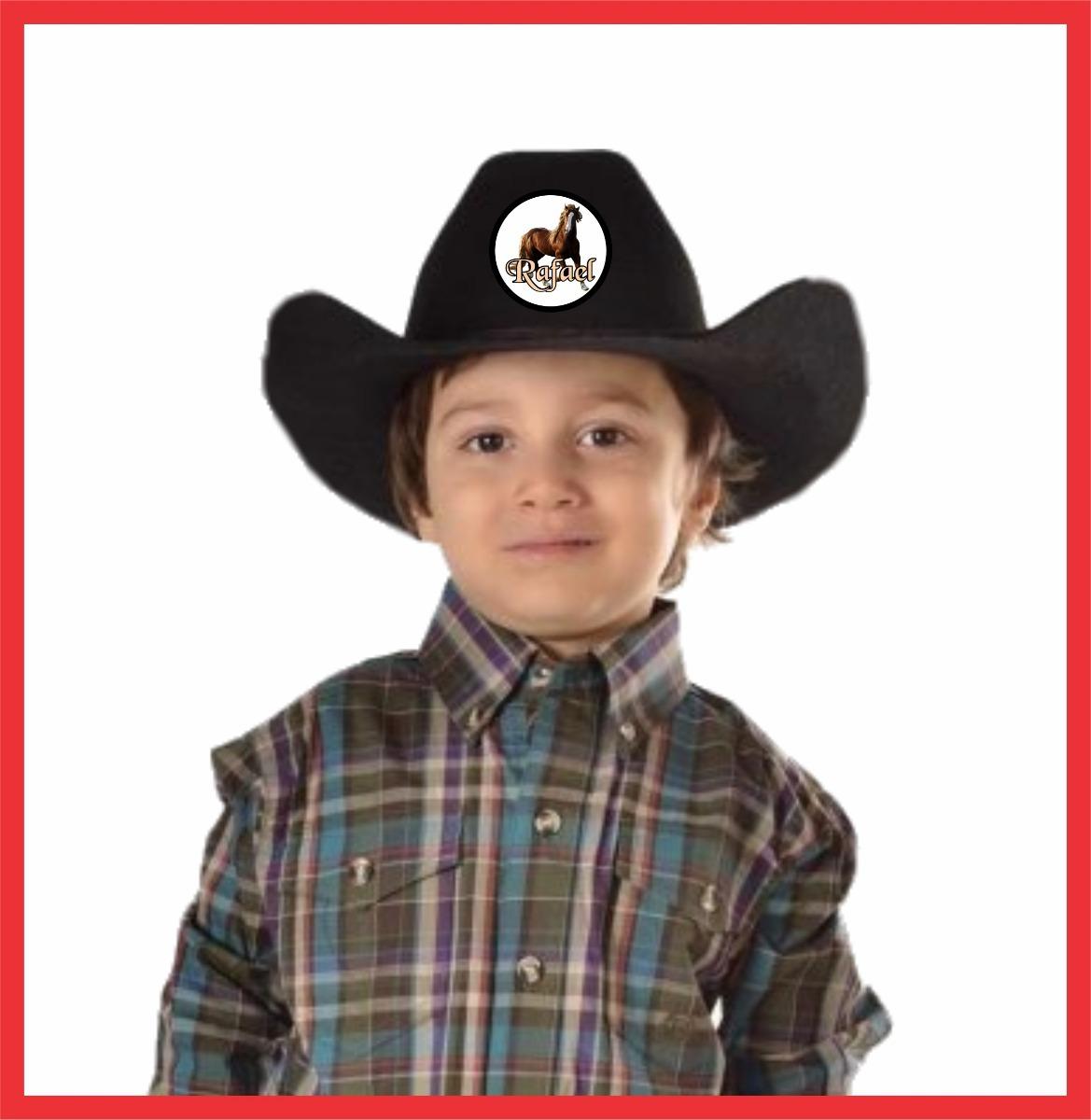 chapéu personalizado infantil cowboy festa fantasia. Carregando zoom. bf25e922719