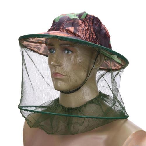 chapéu pesca tela rede proteção mosquito pernilongo barato