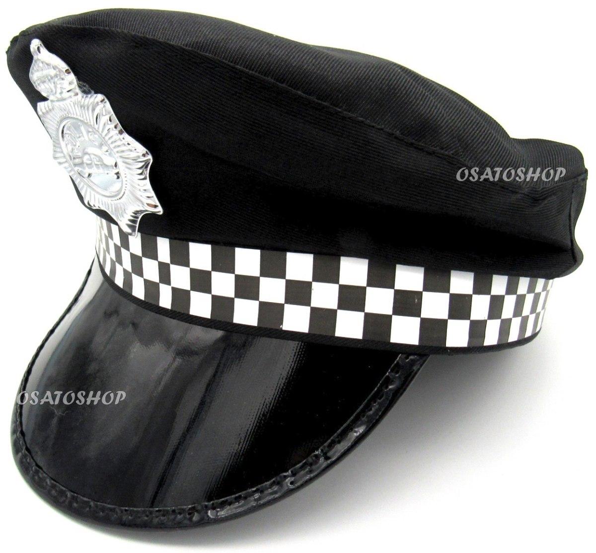 chapéu policial quepe boina xadrez fantasia festa cosplay. Carregando zoom. 0062c4425d1