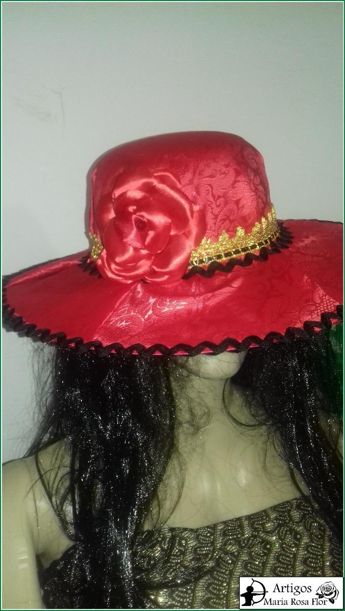Chapéu Pombo Gira Flor Vermelha (fazemos Personalizados) - R  120 168723ed5be