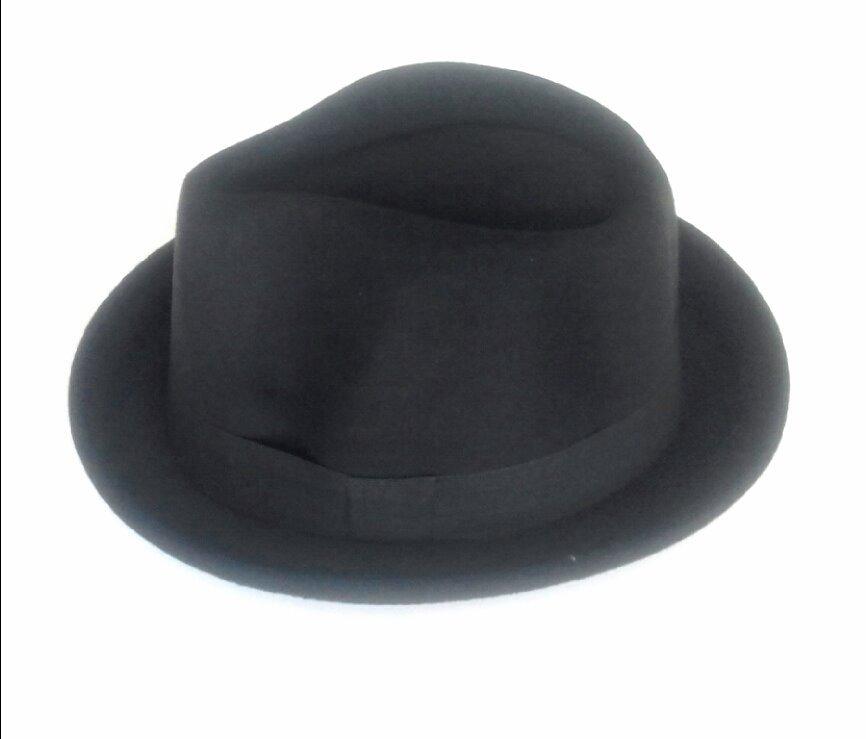 fe64828f70ce3 chapéu pork pie fedora aba pequena masculino estilo europeu. Carregando  zoom.
