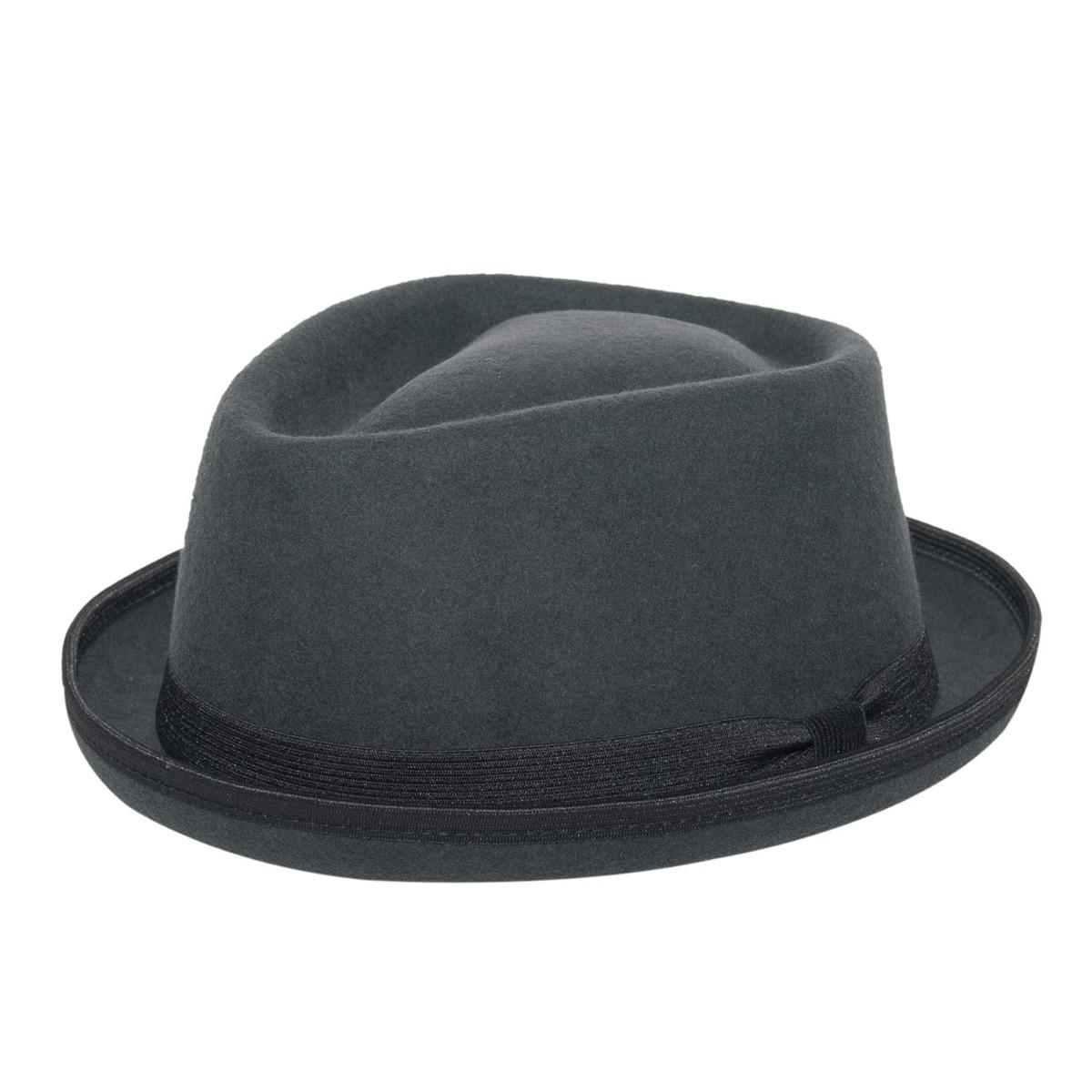 d242cd617f800 chapéu pork pie masculino cinza aba curta feltro. Carregando zoom.