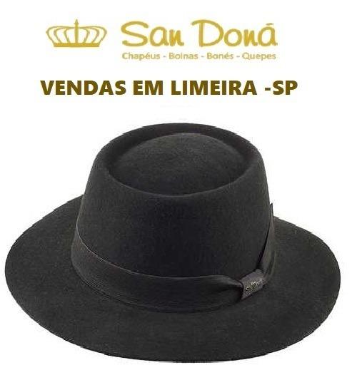 Chapéu Pork Pie Williams Feltro Cinza Preto Bege San Doná - R  179 ... 2aa68d3d082